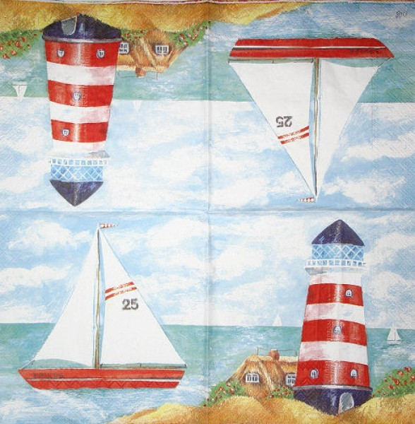 Serviette Lighthouse blue