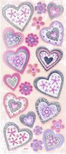 3D Sticker Herzen