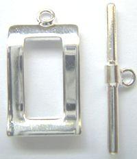 Knebelverschluss 11x20mm silber
