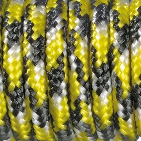 Paracord 2mm gelb / schwarz / weiß