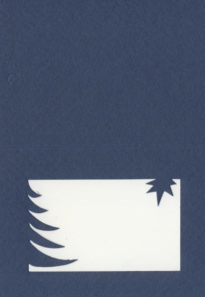 Fensterkarte A6 Weihnachten dunkelblau