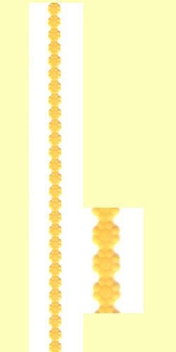 Wachs-Borte Blüte 240x10mm gelb
