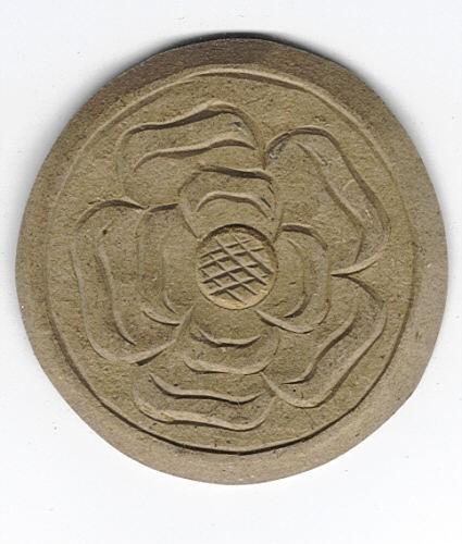 Holz-Dekor Rosenornament