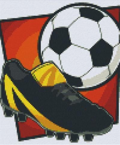 806136 Pixelhobby Set Fußball 3 mit 6 Platten