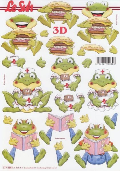 3D Motivbogen Frösche