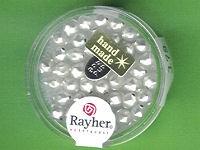 Glas-Rautenperle 5mm weiß matt
