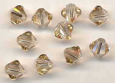 Swarovski Glasschliffperlen 6mm golden shadow