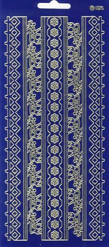 Sticker Linien Nordic blau gold