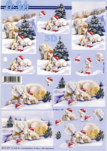 3D-Motivbogen Eisbär Weihnacht
