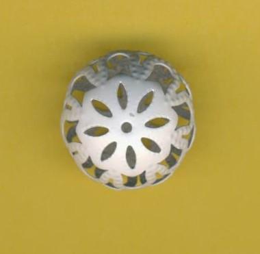 Ornamentperle 17x13mm weiß