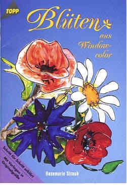 Buch Blüten aus Window Color
