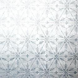 Vlies Eiskristall eisblau