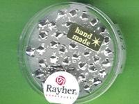 Glas-Rautenperle 5mm silber