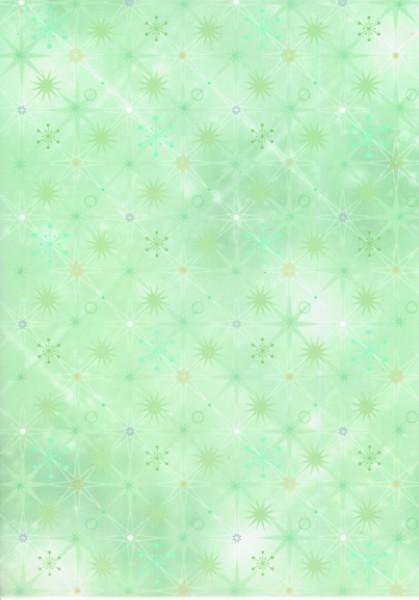 Transparentpapier Eiskristalle grün