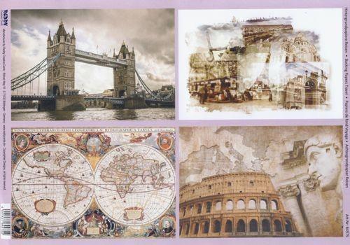 Hintergrundpapier Reisen