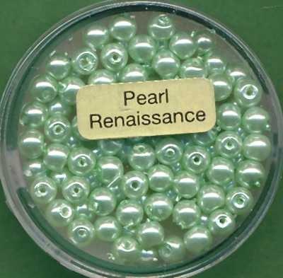 Glaswachsperlen 4mm hellgrün