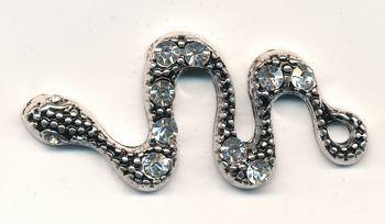 Metallanhänger Schlange ca. 4cm