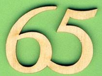 Jubiläumszahl 65 - 33mm
