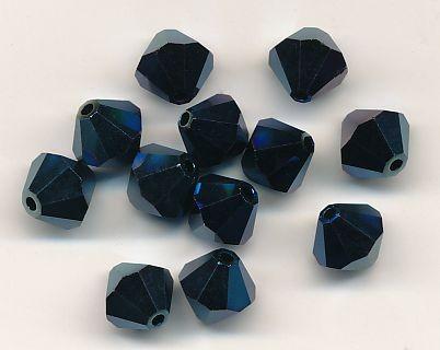 Swarovski Glasschliffperlen 6mm metallic blue