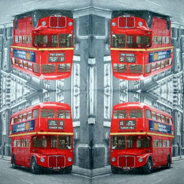 Serviette Bus London