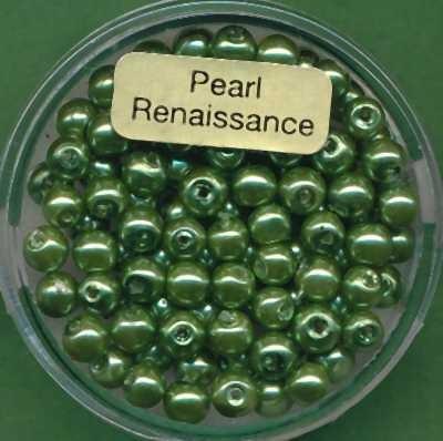 Glaswachsperlen 4mm dunkelgrün