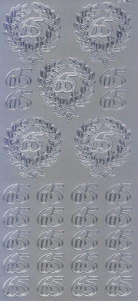 Sticker 65 silber