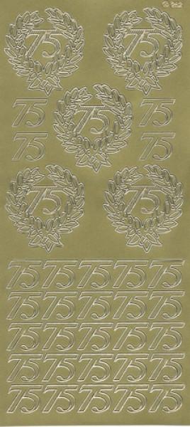 Sticker 75 gold