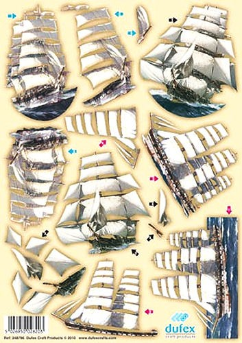 Dufex 3D Motivbogen Segelboote