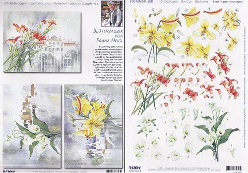 3D-Stanzbogenset Callas, Lilien