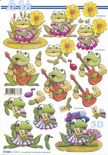 3D Motivbogen '' Froggys''