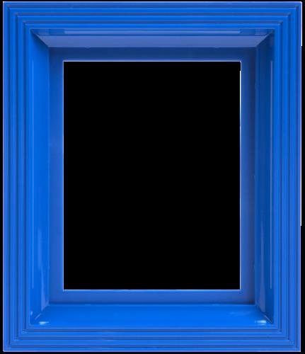 Rahmen signalblau