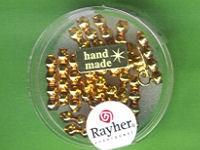 Glas-Rautenstäbchen 4x16mm gold