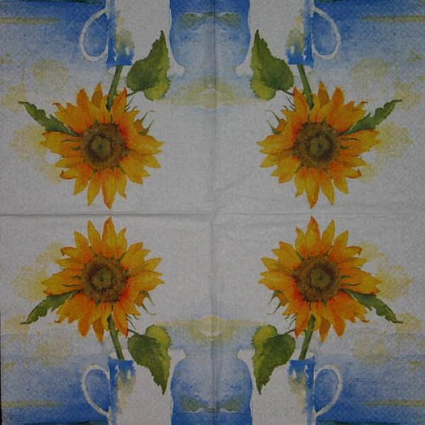Serviette Sonnenblume III