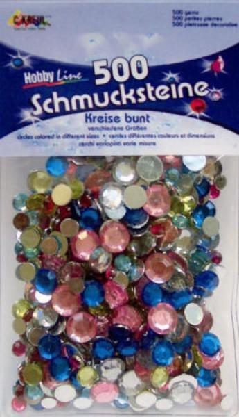 Schmucksteine-Set Kreise bunt