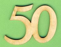 Jubiläumszahl 50 - 33mm