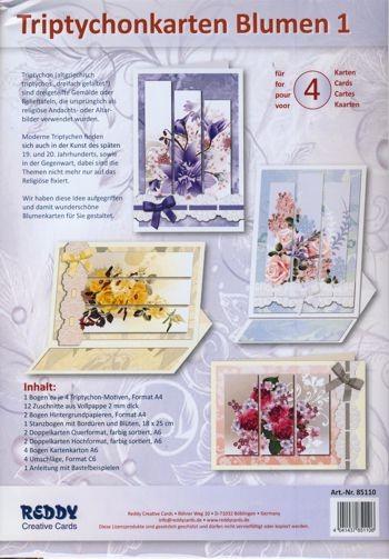 Triptychonkarten Blumen 1