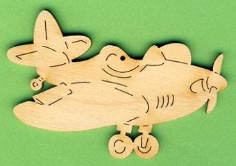 Holz-Deko Flieger 8cm