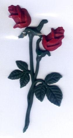Wachs Rosenblüten 11cm
