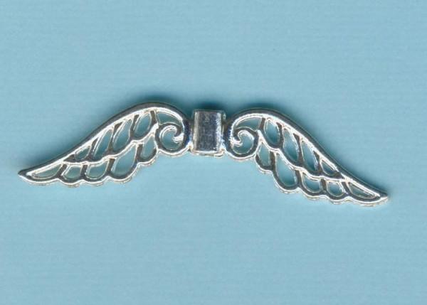 572140a_Metallverzierteil-Flügel-7x52mm-silberfarben