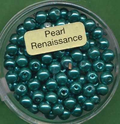 Glaswachsperlen 4mm erinite grün