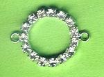 Strasszwischenteil platin-kristall rund 25mm