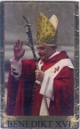 Wachsbild Benedikt XVI 8,5x5cm
