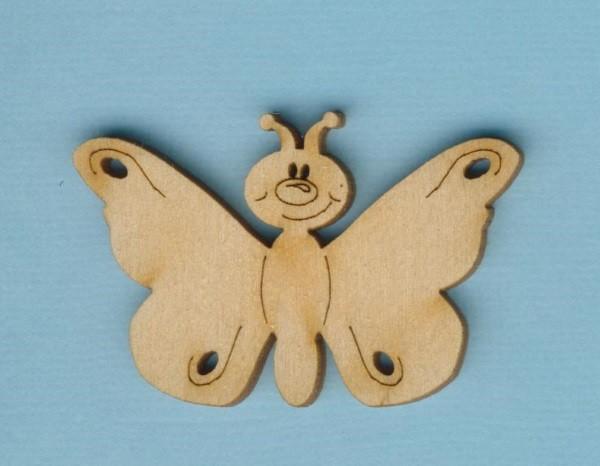 Holz-Deko Schmetterling lustig 50mm