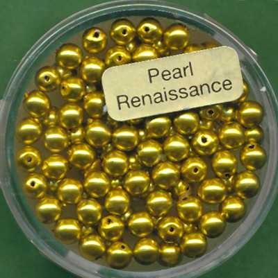 Glaswachsperlen 4mm oliv