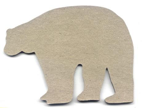 Holz-Dekor Eisbär 16cm