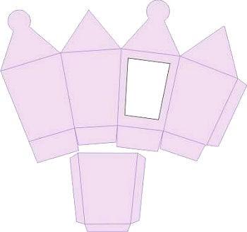 3D-Laternenbox lavendel