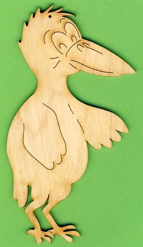 Holz-Deko Rabe stehend 16cm