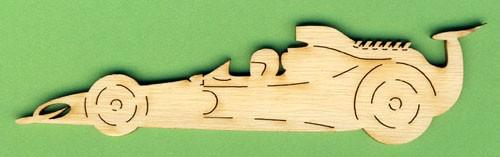 Holz-Deko Rennauto 12cm