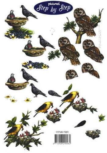 Motivbogen Vögel