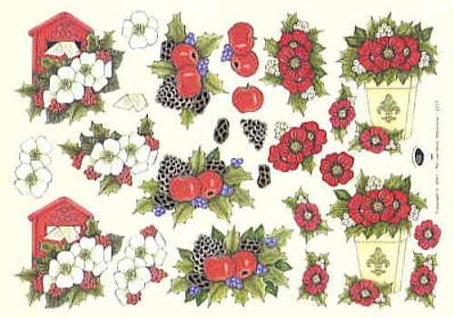 Motivbogen Blumengruß